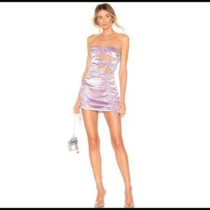 For Love & Lemons Sonora Mini Dress Purple Mediu